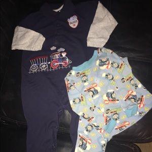Baby 👶🏻 24M Pajama Set • 2 pair Train Lovers